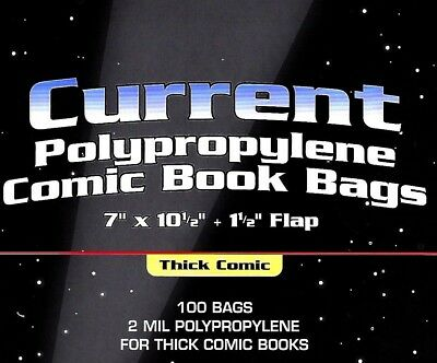 100 Current THICK Comic Bags and Boards NEW BCW Archival Storage