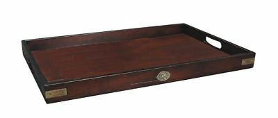 G748: Edles Victorianisches Butler Tablett, old British Butlers Tray, Mahagoni