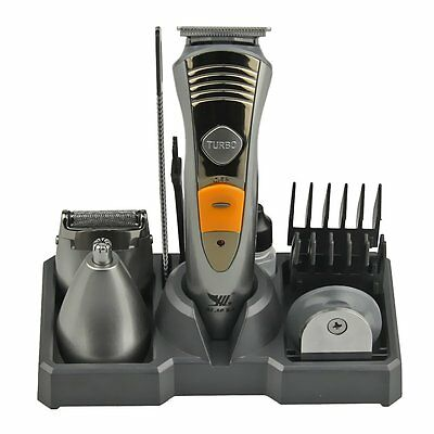 Men's Professional Cordless Rechargeable Hair/Beard/Body Clipper Trimmer Groomer