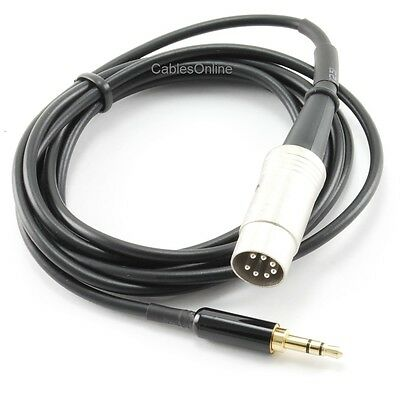 6ft 3.5mm Stereo Step-Down Plug to DIN-7 Audio Cable, BO-806Z