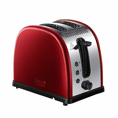 Russell Hobbs 21291 2 Tranches Fente Large En Acier Inoxydable Grille-pain Neuf