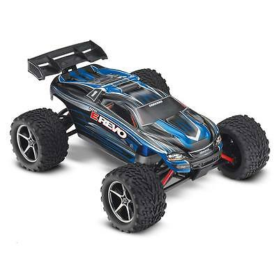 NEW Traxxas 1/16 E-Revo Brushed 4WD TQ/Battery/Charger Blue 71054-1