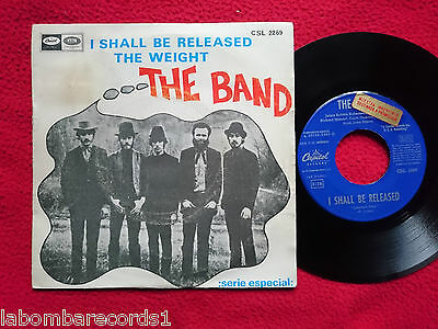 "THE BAND I Shall Be Released 7"" 1968 Spain MEGA RARE UNIQUE SLEEVE Bob Dylan --5"