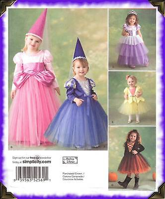 Princess Fairy costume PATTERN Simplicity 2569 Juliet fit Playpal sz 1/2 1 2 3
