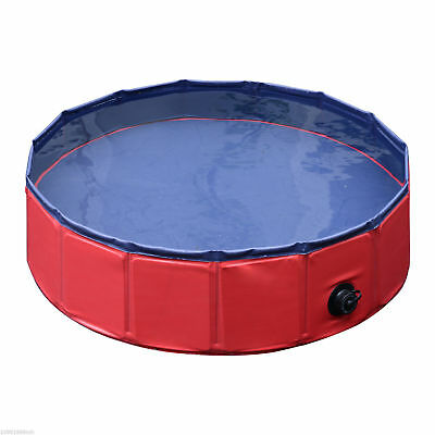 "31.5"" Diameter Foldable PVC Pet Swimming Pool Bathing Tub Bathtub Dog Cat Washer"