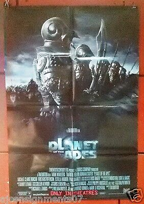 "Planet of the Apes DS Version B Folded 40x27"" Original Movie Poster 2000s"