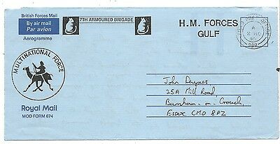 Scots Dragoon Guards Postal History Gulf War 1990 Forces Mail 7th Armoured Bde