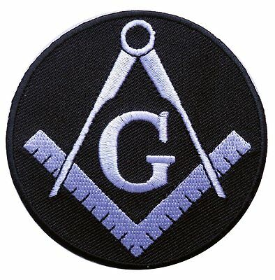 Masonic Square Compass G Emroidered Iron On Patch