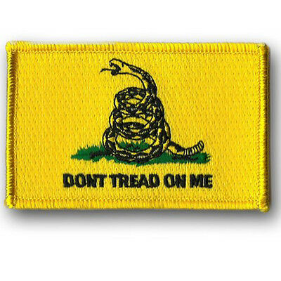Don't Tread on Me EMBROIDERED 3  INCH HOOK LOOP PATCH