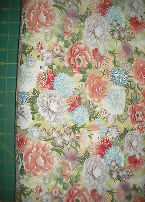 QUILT, SEW, Fabric - Timeless Treasures Lotus Floral