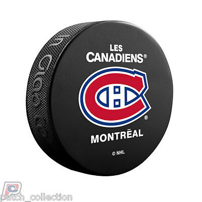 Montreal Canadiens Team Logo Official Basic Souvenir NHL Hockey Game Puck French