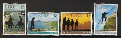 Ireland Mnh 1981 Sg493-496 50Th Anv Of An Oige Set Of 4