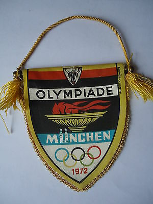 alter Wimpel Pennant Olympiade München 1972 # 8 x 10 cm