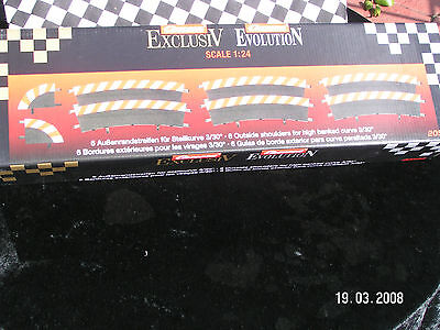 Carrera 6 Outside Shoulders  2 End Sections 20566   1.24 Scale Bnib