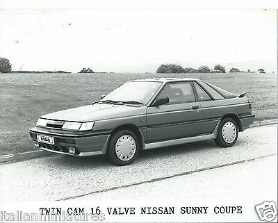 Nissan Sunny ZX Coupe Twin Cam 16 Valve Original Press Photograph Press Release