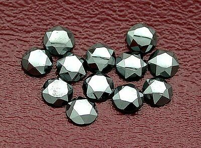 FOUR 5mm Round Custom Faceted Hematite Cab Cabochon Gem Stone Gemstone EBS6958