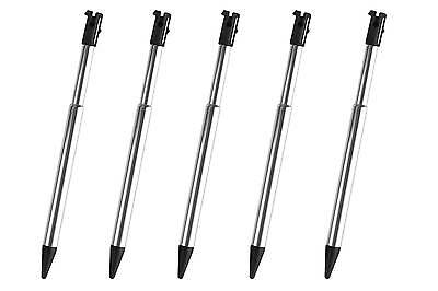 5x 3DS Black Silver Stylus Metal Retractable Touch Pen for Nintendo - New