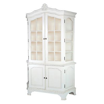 Coquillage French Style Cream Chateau Large Bookcase Dresser Display Cabinet