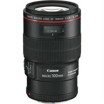 Canon EF 100mm 100 mm f/2.8L Macro IS USM Lens NEW