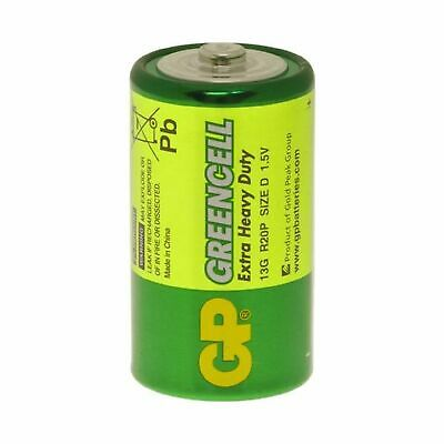 20x New GP Greencell D Size 1.5V HP2 R20S Alkaline Extra Heavy Duty Batteries