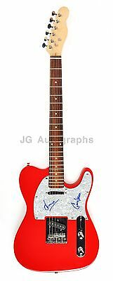 Ween - Gene & Dean Ween Authentic Autographed Red Electric Guitar * Boognish