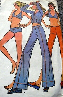 LOVELY VTG 1970s JACKET PANTS & SWIMSUIT Sewing Pattern BUST 30.5