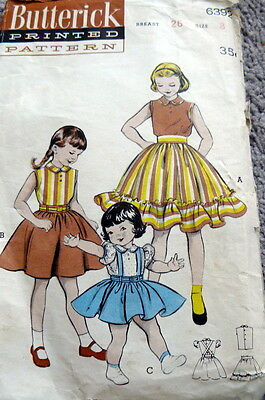 LOVELY VTG 1950s GIRLS BLOUSE & SKIRT BUTTERICK Sewing Pattern 8