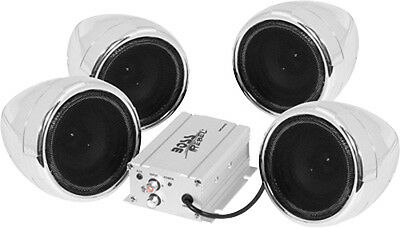 Boss Audio Systems Weatherproof 4-Speaker Stereo System 1000W Amp Chrome