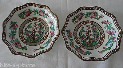 COALPORT INDIAN TREE England  Vintage LOT 2 Small scalloped Bowls  6 1/4""