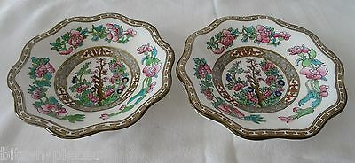 COALPORT INDIAN TREE England  Vintage LOT 2 Small scalloped Bowls  6 3/8""
