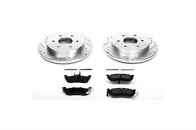 Power Stop Brake Rotors/Pads Cross-Drilled/Slotted Rear Kit K2445