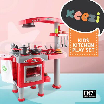 Kids Kitchen Pretend Role Play Set Toddler Children Cooking Oven Toy Home Oven