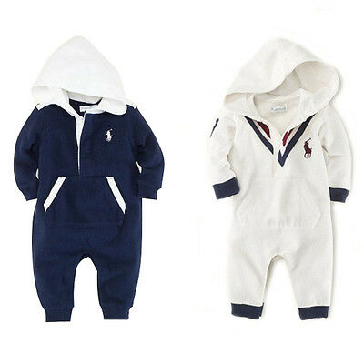 Baby Girls Kids Polo Rompers Autumn Cotton Clothing Boys Bodysuits Outfits 0-24M