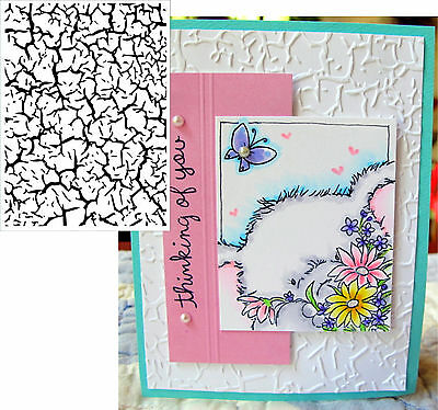 Embossing Folders DARICE - CRACKLE 1218-57 Cuttlebug compatible folder