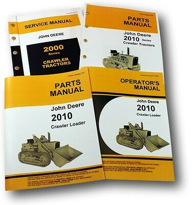 John Deere 2010 Crawler Loader Service Parts Owners Operator Manuals Repair Shop
