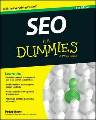 Seo for Dummies, 6th Edition by Peter Kent (English) Paperback Book Free Shippin