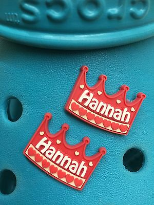 2 Hannah Shoe Charms For Crocs & Jibbitz Wristbands. Free UK P&P.