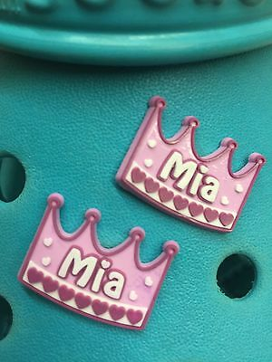 2 Mia Shoe Charms For Crocs & Jibbitz Wristbands. Free UK P&P.