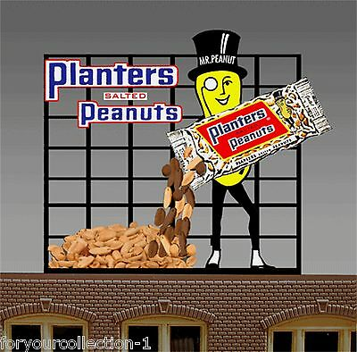 MILLER ENGINEERING Planters Peanuts  Animated Neon Sign O/HO Scale #7061