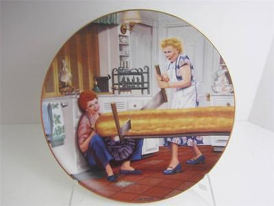 Hamilton Plate I Love Lucy A RISING PROBLEM New Box Signed Lucie, COA Lucille