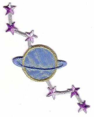 Space Ringed Planet Constellation Embroidery Patch