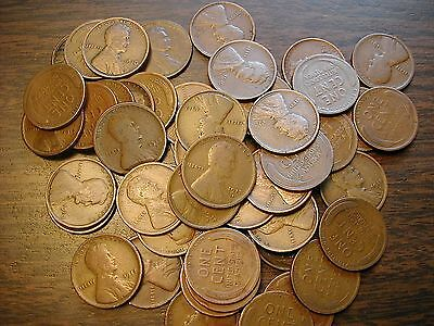 LINCOLN WHEAT CENT PENNY ROLL 1909-19 PDS mixed dates/mints GREAT MIX OF TEENS!!