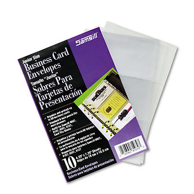 """Samsil Business Card Binder Refill Pages, Six 2 x 3 1/2 Cards, PKSAM81079"""