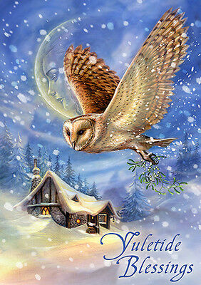 6 Pack Anne Stokes Yule Card Solstice Snow Bringer Christmas Owl