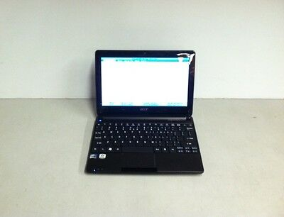 Acer Aspire One ZE6 10.1'' Laptop Netbook N570 1.66 GHz 250GB HDD 1GB RAM No AC