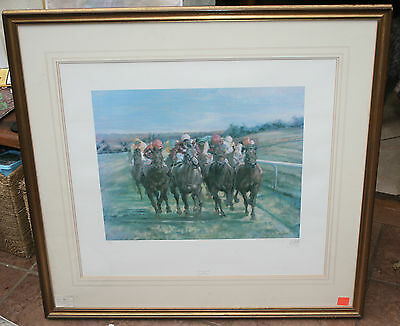 Turn for Home Limited Edition Print Signed by Claire Eva Burton Horse Racing