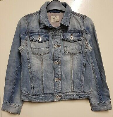 Girls` New Ex-Store Denim Jacket Ages 3 to 16 in Light Blue