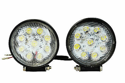 Pair of Very Bright 27W LED Spotlights for Adventure and Touring Motorbikes