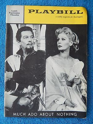 Much Ado About Nothing - Lunt-Fontanne Playbill - October 19th, 1959 - Gielgud