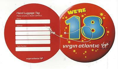 VIRGIN ATLANTIC AIRLINES We're 18 Jumbo Baggage Tag